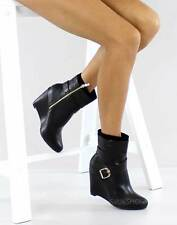 Wedge Mid-Calf Faux Suede Unbranded Women's