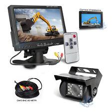 """Kit Retromarcia Monitor 7"""" TFT-LCD Retrocamera Sicurezza Veicoli Mezzi Lavoro"""