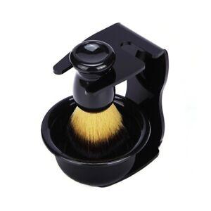 3PCS Shaving Kit for Male Wet Brush Holder Stand Soap Bowl Mug Hair Beard