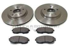 FOR NISSAN JUKE 1.5 DCi 1.6 2010-2017 FRONT 2 BRAKE DISCS & PADS (CHECK SIZE)