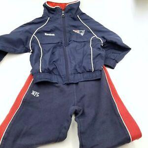 New England Patriots NFL Team Apparel Reebok Kids Jacket Jogging Pants 2T Set 2