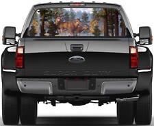 Deer in Forest Ver 3  Rear Window Graphic Decal Truck SUV Van Car