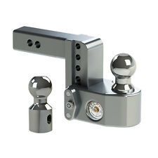 "Weigh Safe WS4-2 Adjustable Ball Mount 4"" Drop Hitch w/ Scale & 2"" Shaft"