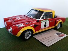 FIAT 124 ABARTH # 4 RALLYE 1975 ALEN RALLY Portugal 1/18 SUN STAR voiture miniat