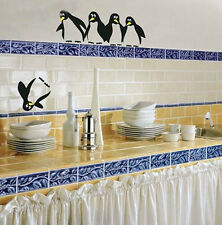 Wall Decal Save the Falling Penguin Funny Sticker Art Ideas for Home Decor