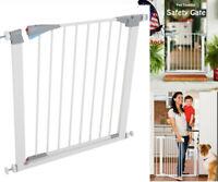US Pet Fence Dog Gate Baby Barrier Walk Door Toddler Through Metal Safety Fence