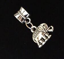 Elephant Animal Silver Dangle European Charm Bead For Bracelet