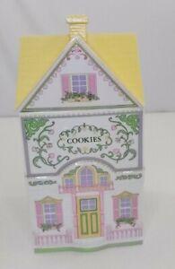 Lenox Village Canister Cookies Cottage Jar W/ Lid EXCELLENT!