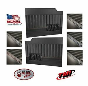 Sport Flat Door Panels w/ Pockets For 1953 - 1955 Ford Truck's