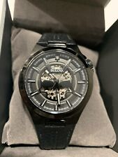 Bulova Men's Maquina Automatic Stainless Steel Black Leather 46mm Watch