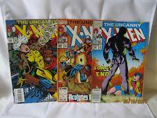 Three Uncanny X-Men comics #297 Feb, #298 Mar, and #305 Oct 1993
