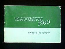 Triumph 1300 Owner's Handbook (Standard Triumph. 1967) Booklet