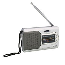 Portable Radio World Receiver Antenne télescopique Slim Pocket Mini Radio AM/FM