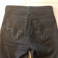 NYDJ - Embellished Bootcut Jeans Size 2 Dark Blue Not Your Daughters Women -SC15