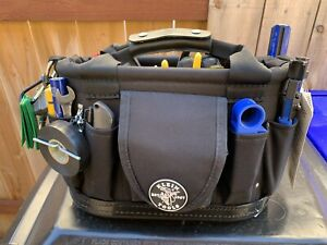 Klein cable technician tool bag with tools.