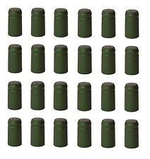SHRINK CAPSULES 400+ NPT GREEN METALLIC PVC NON-PULL TAB FOR WINE BOTTLES HEAT
