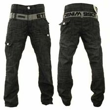 Faded Mid Rise Classic Fit, Straight ETO Jeans for Men
