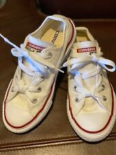 Converse- All Star- white-, Euc , worn 1X. size 12.5