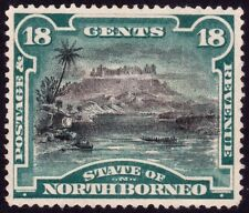 NORTH BORNEO 1894 18c P15 Isc#58 - MNG with paper stuck to back @P831