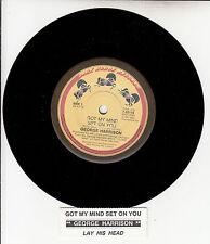 "GEORGE HARRISON  Got My Mind Set On You BEATLES 7"" 45 rpm record + jukebox strip"