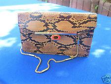 Damen-Handtasche Abend-Tasche Leder echt Vintage Damentasche Schlangen-Design