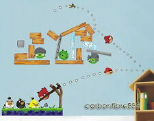 ANGRY BIRDS Reusable Wall Stickers Kids/Nursery/Boys/Children Room Decal