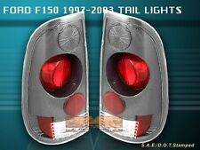97-03 FORD F150 F-150 F-250 TAIL LIGHTS CARBON 02 01 00