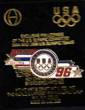 RARE PINS PIN'S .. OLYMPIQUE OLYMPIC ATLANTA 1996 USA TEAM RACE ~14