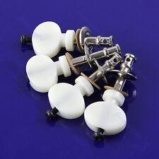 White 4Pcs Ukulele Strings Tuning Pegs Pin Machines Tuners Friction Ukelele New