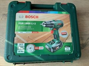 BOSCH PSR 1800 Li-2 LITHIUM-ION CORDLESS DRILL/DRIVER 1 BATTERY & CHARGER