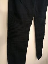 H&M Mama Black Maternity Jeans with ribbed knee design Size 14 (over bump)