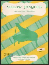 PAUL F. JOHANNING piano solo YELLOW JONQUILS sheet music FOUR PAGES 1899