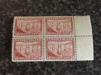 NEWFOUNDLAND POSTAGE STAMPS SG299 48C RED/BROWN BLOCK OF 4 MARG 2x LMM & 2x UMM