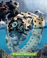 Reloj de Pulsera Sanda Camuflaje Militar Deportivo Digital A prueba de agua/choques Cuarzo
