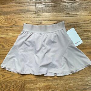 LULULEMON Morning Match Skirt Skort Pink Bliss Run Tennis Size 4 Tall NEW