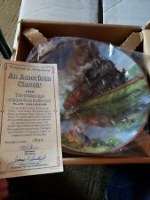 An American Classic 1992 The Golden Age of American Railroads Collector Plate