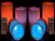 Nouveau 6 x couleur modification LED Bougie Cire humeur vanille parfumée + télécommande