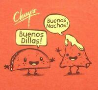 NEW Chuys T Shirt Large Buenos Nachos! Buenos Dillas! Ships Free