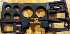 73-80 Chevy Truck C10 C20 C30 Black Instrument Cluster Bezel W/AC Blazer GMC OEM