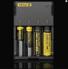 Cargador de Pilas AA AAA AAAA recargables 4 pila bateria NiMh NiCd IMR Li-ion i2