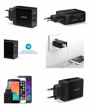 ANKER Genuine 2 Port USB EU 2 Pin Wall Travel Charger adapter iPhone Samsung