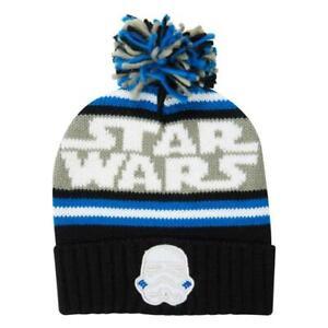 Mens Ladies Kids Blue Winter Woolly Ski Star Wars Stormtrooper Bobble Beanie Hat