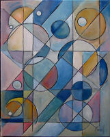 IN NO TIME trend Abstract oil painting New art canvas original signed CROWELL $
