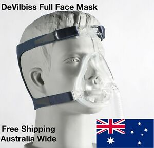 DeVilBiss CPAP Full Face Mask and Headgear for Sleep Apnea - Size Large
