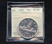 1954 Canada Dollar Coin Cut Off ICCS PL-66 QN 547 (23.33 Grams, .800 Silver)