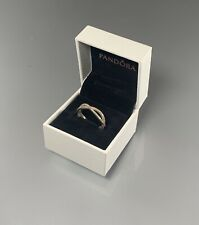 Pandora Crossing Band ring size 9 / with Box