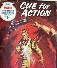 A Fleetway War Picture Library Pocket Comic Book Magazine #431 CUE FOR ACTION