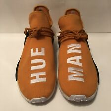 08048d317 Adidas X Pharrell Williams NMD HU Human Race Orange White Hue Man BB3070  Size 14
