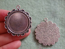 5 large oval setting blanks picture photo frame pendant charm Tibetan silver UK