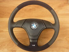 Volante in pelle M BMW E34 E36 Z3 con Airbag NUOVO RIVESTIMENTO ALCANTARA